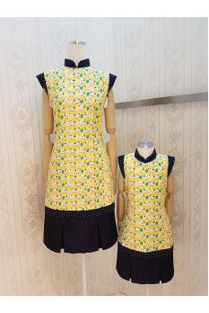 Cheerful Bird Cheongsam Dress
