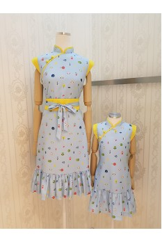 Happy Owl Cheongsam Dress