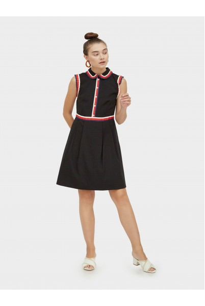 Anchor Button W Collar Dress