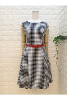 Checkers High Low Dress