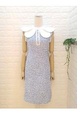 Double Collar Tweed Dress
