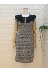 Lace Collar Tweet Dress