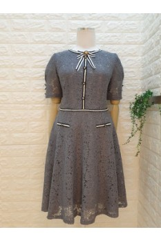 Lace Trimming Dress