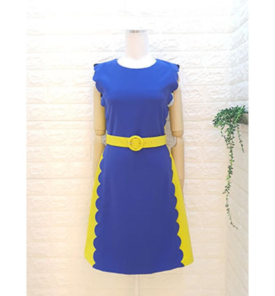 Side Scallop Dress