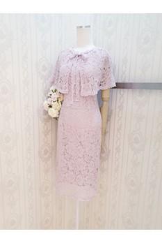 Cape Lace Dress