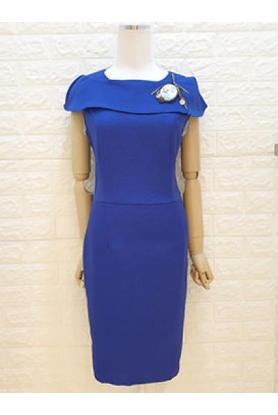 Folded Collar Dress
