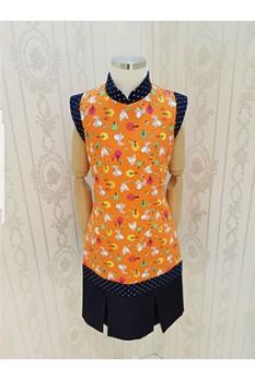 Fox Print QiPao Dress-Girl
