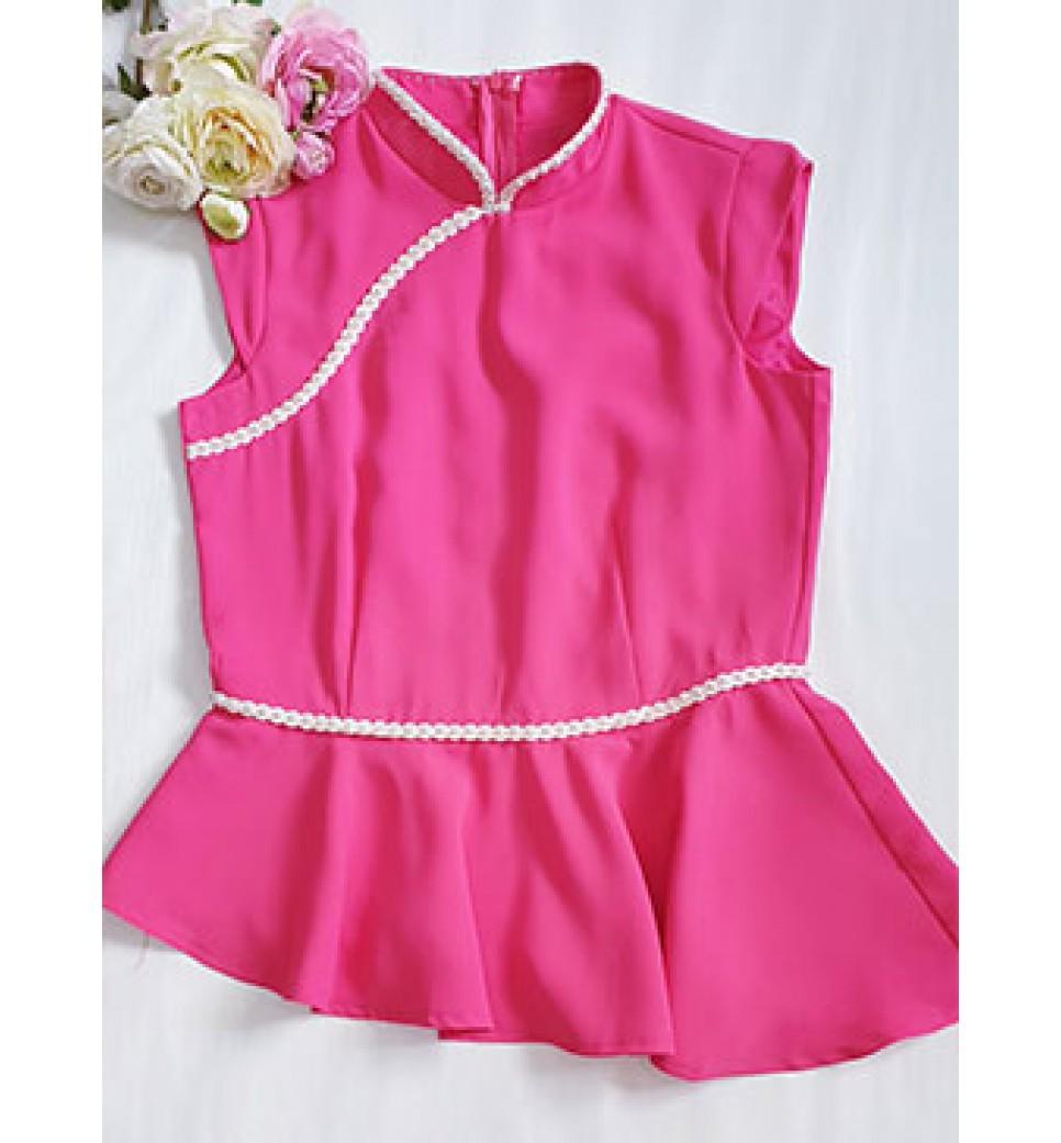 Fuchsia Pink QiPao Top