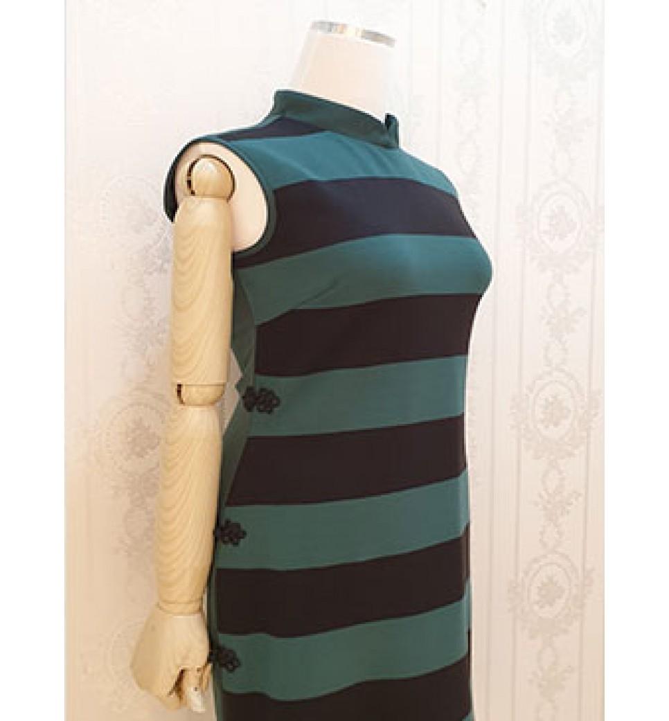 Green QiPao Dress