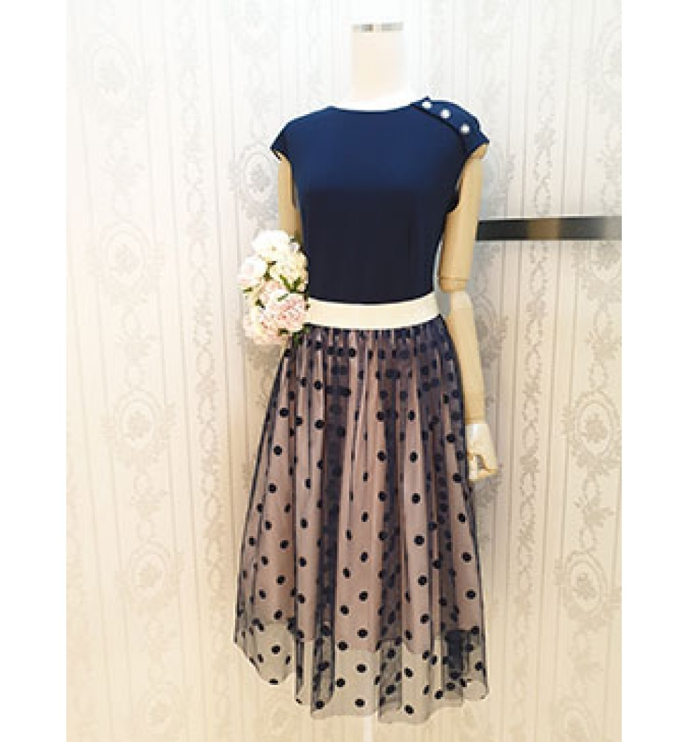 Organza Dot Dress
