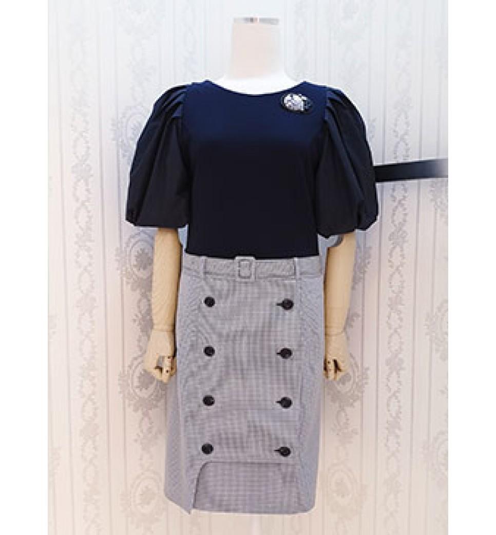 Pluff Sleeve Ck Dress