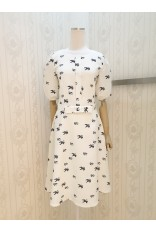 Swallow Print Dress