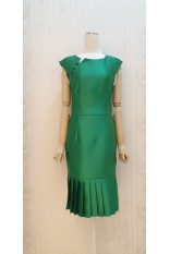 Emerald Silk Sassy Dress
