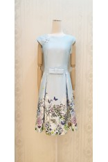 Spring Blossom Blue Dress
