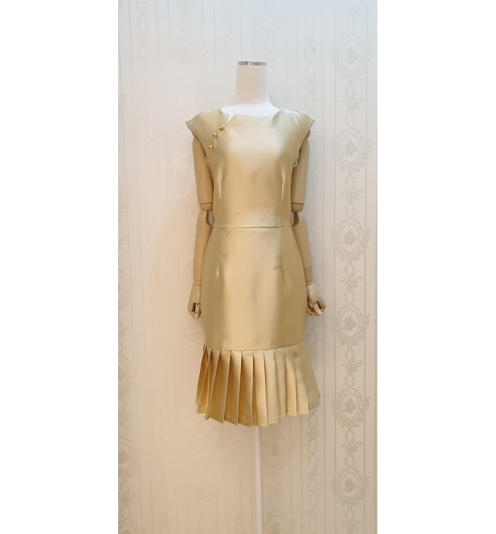 Golden Silk Sassy Dress