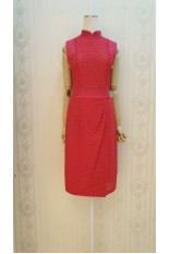 Eyelet Fuchsia Dress
