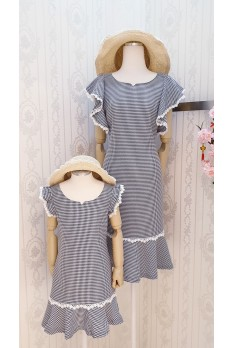 Mermaid Checkers Dress-Kids