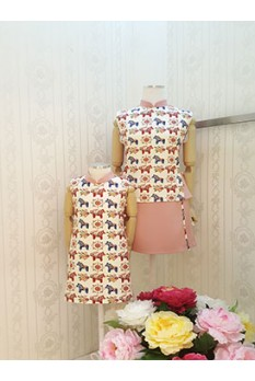 Colourful Horse Qi Pao Top