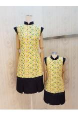 Cheerful Bird Cheongsam Dress