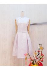 Sakura Pearl Cheongsam Dress-Lavender
