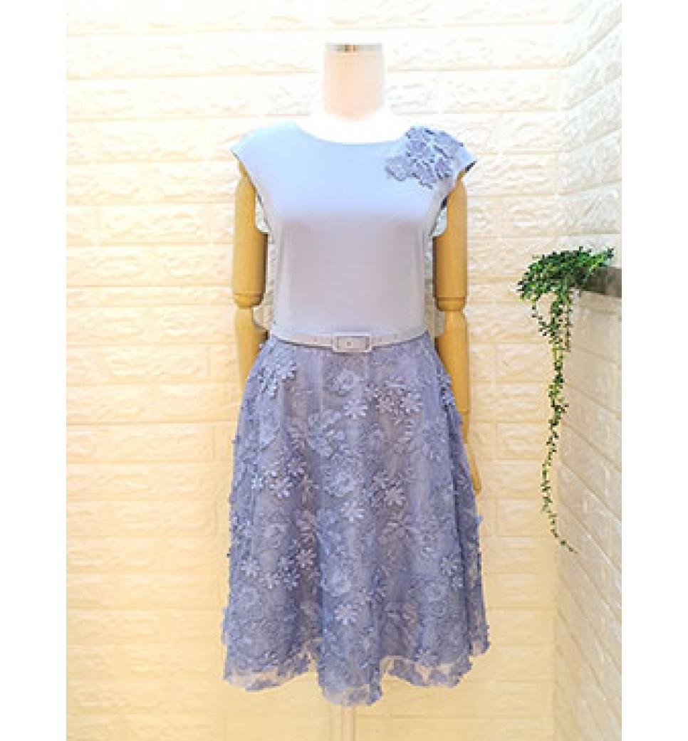 3D Flower Lace Dress
