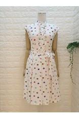 High Collar Frill Macaron Dress