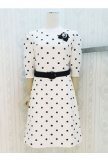 Black Dot Puff Sleeve Dress