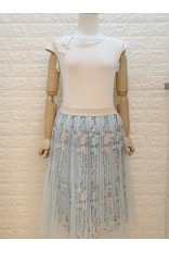 Organza Skirt-Blue
