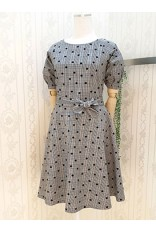 Ck Dot Puff Sleeve Dress