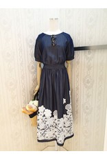 Demin Emb Lace Dress
