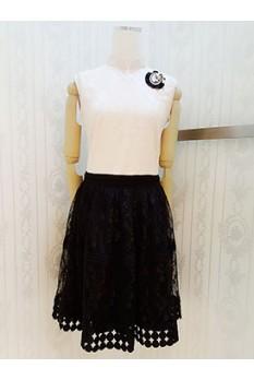Lace Cheongsam Dress