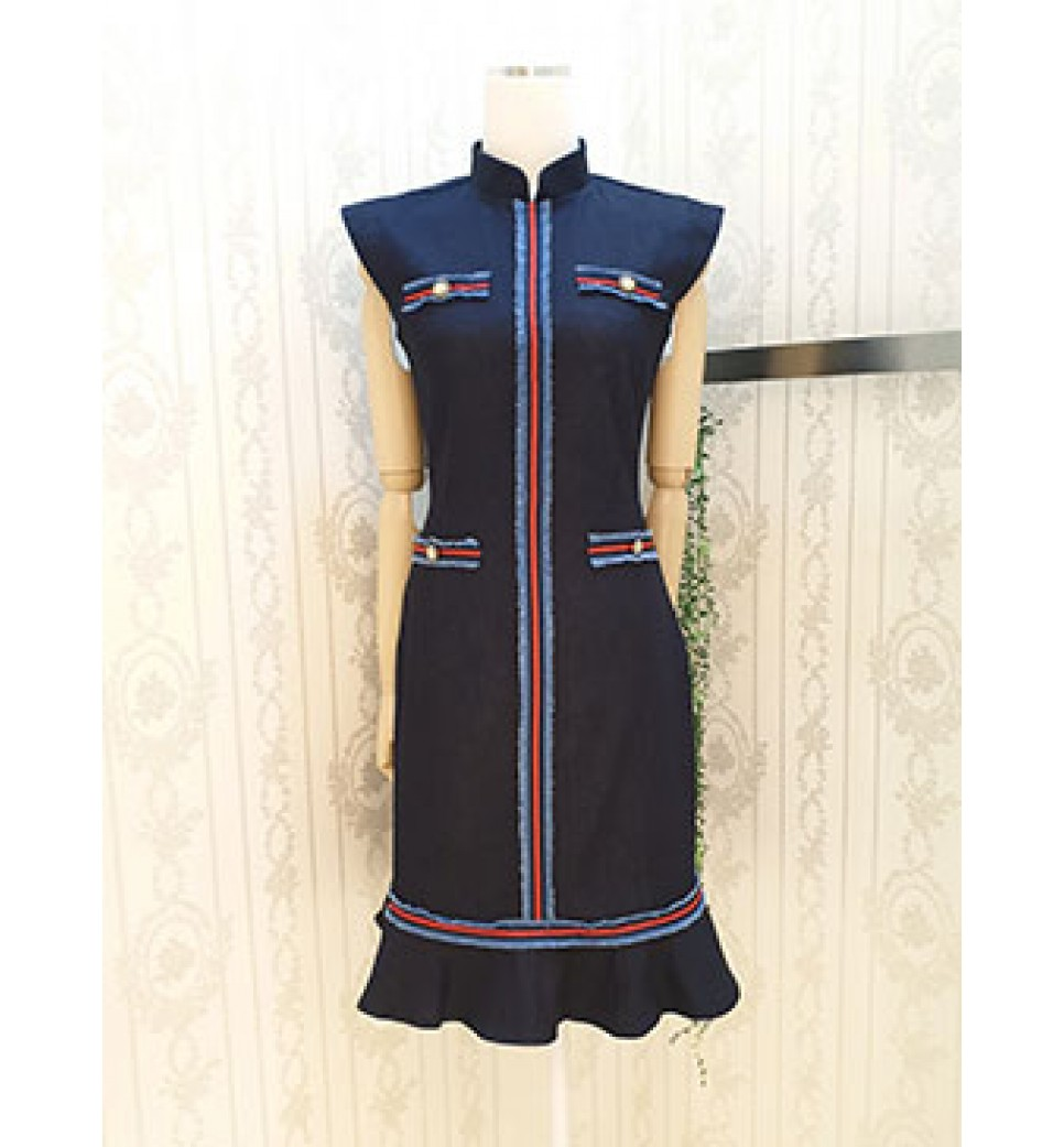 Military Demin Dress