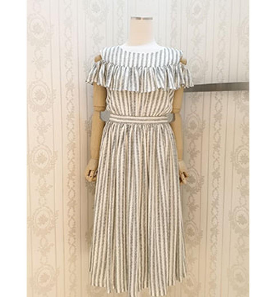 Open Shoulder Long Dress