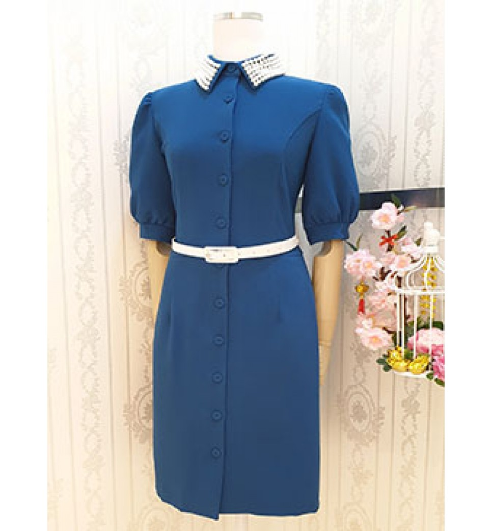 Pearl Collar Dress