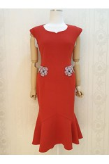 Red Fishtail Dress
