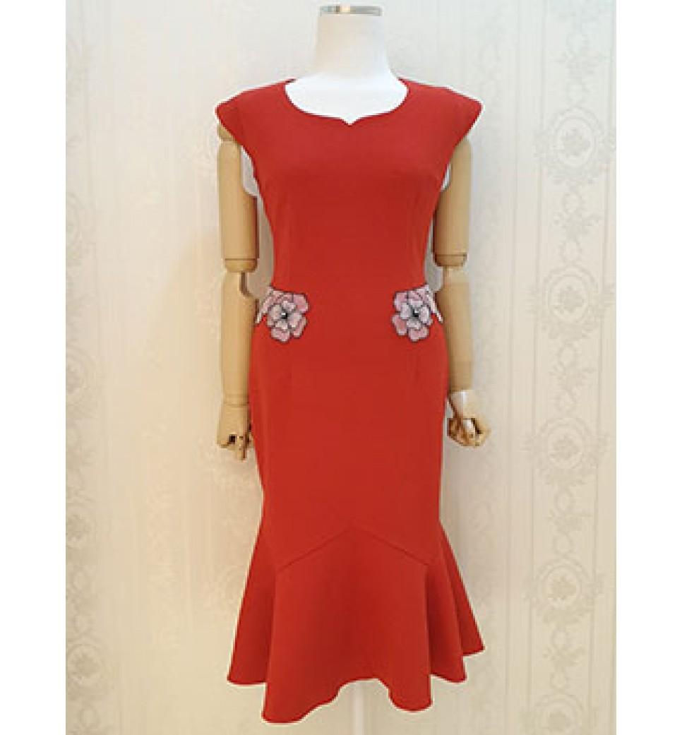 Red Fishtail Dress