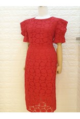 Rose Cotton Lace Dress