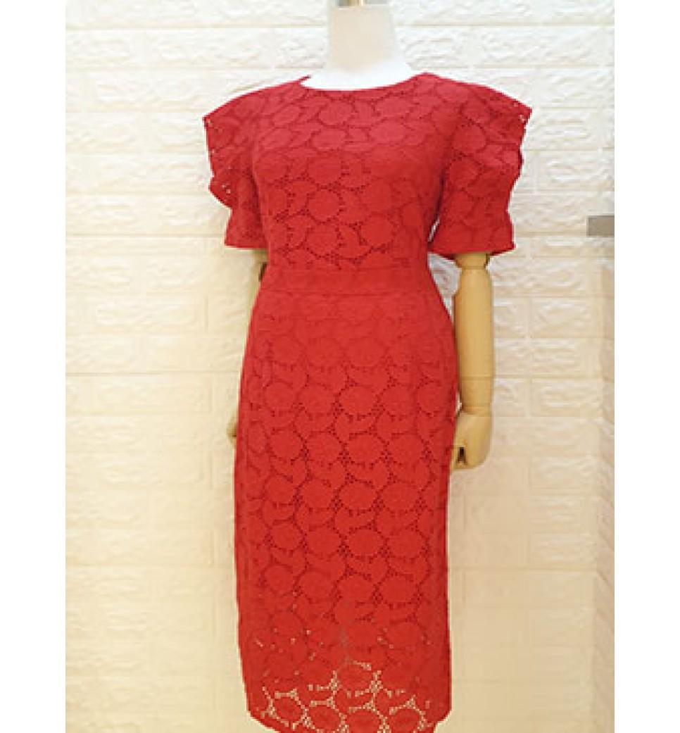 Rose Cotton Lace Dress