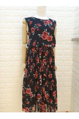 Rose Garden Dress-Black