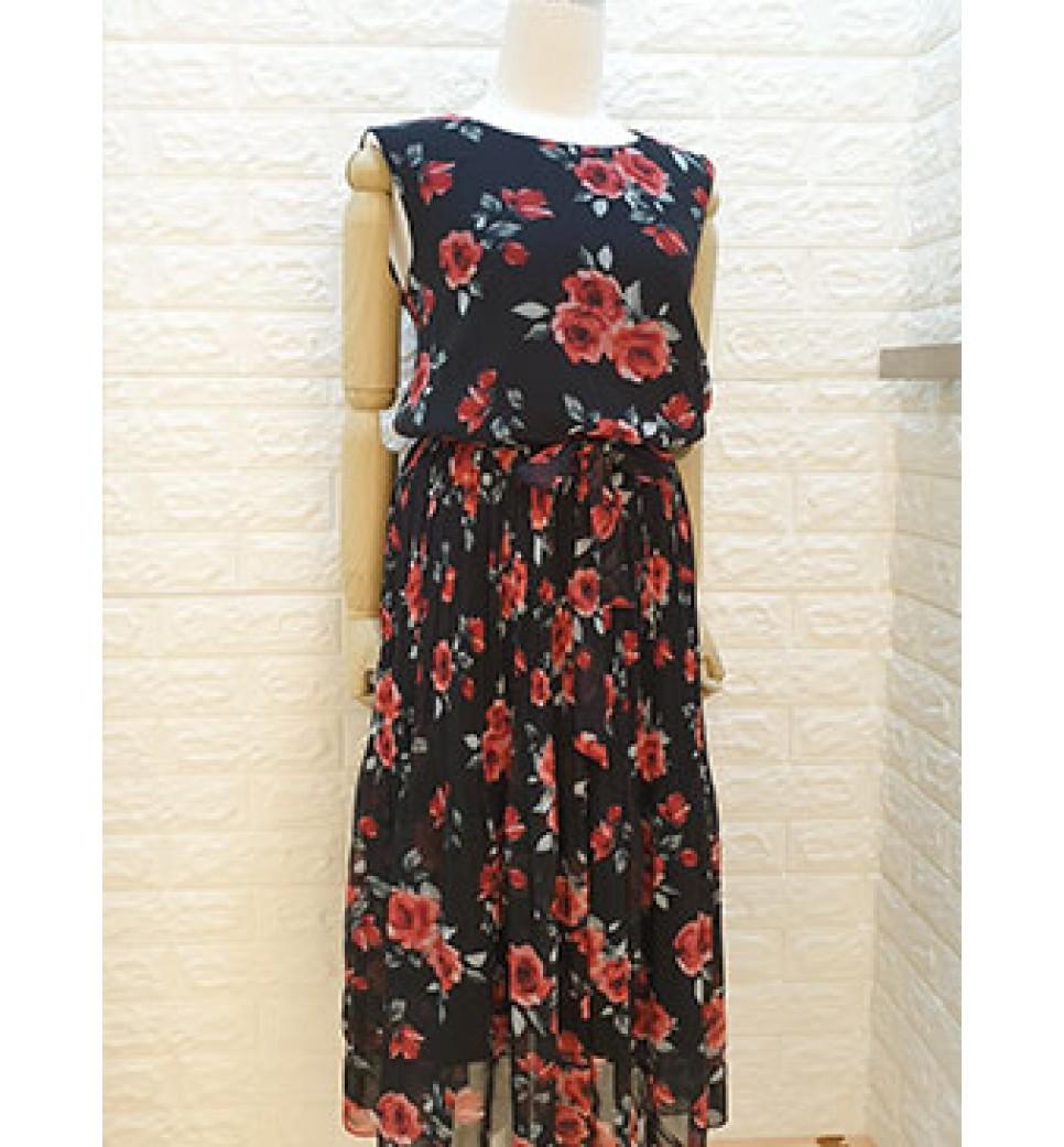 Rose Garden Dress-Black