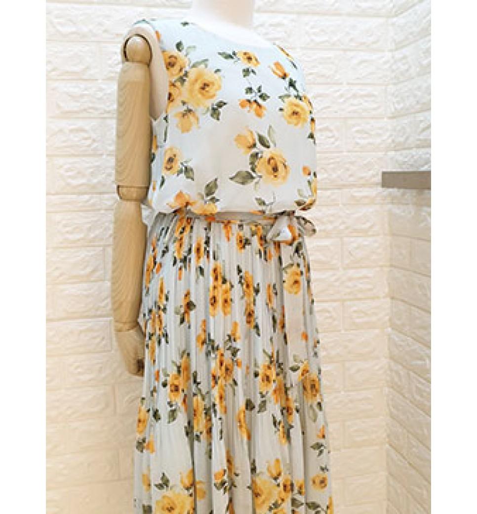 Rose Garden Dress-Green