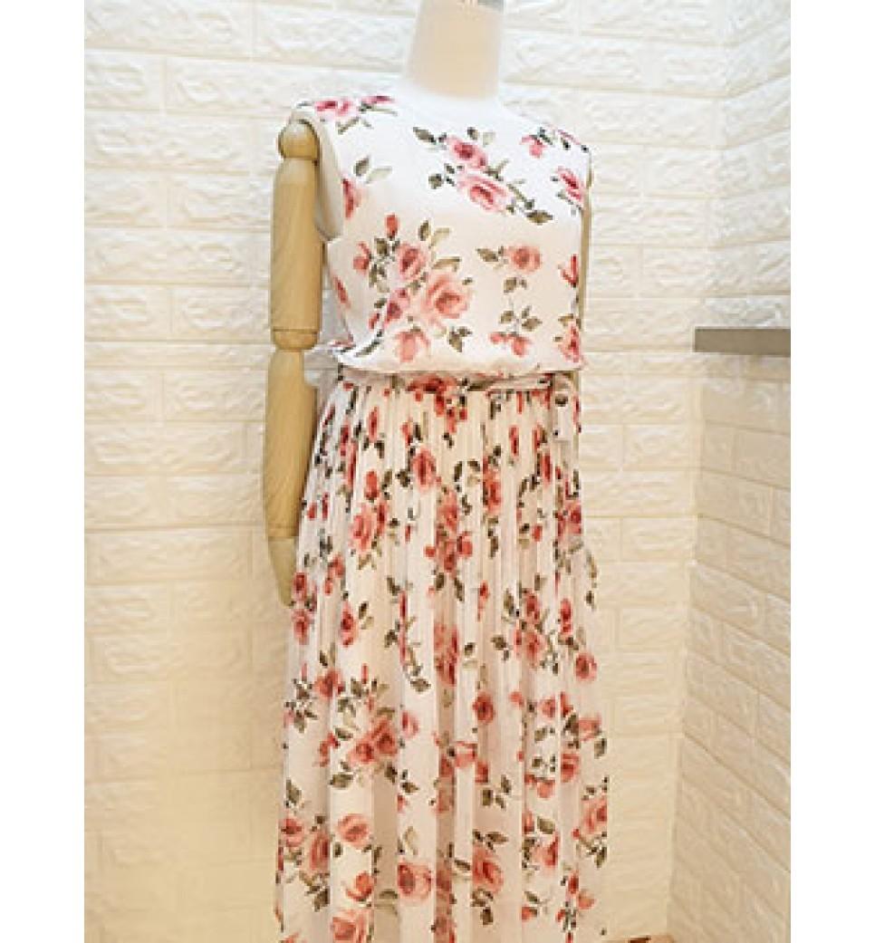 Rose Garden Dress-White