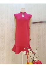 Side Pearl QiPao Dress