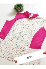 Triangle Print QiPao Top