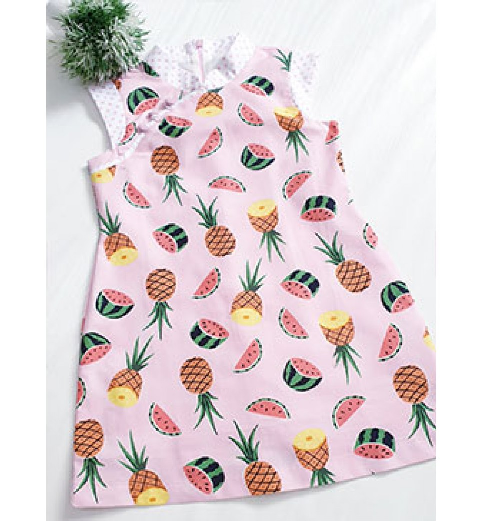 Tropical Fruit Cheongsam-Girl