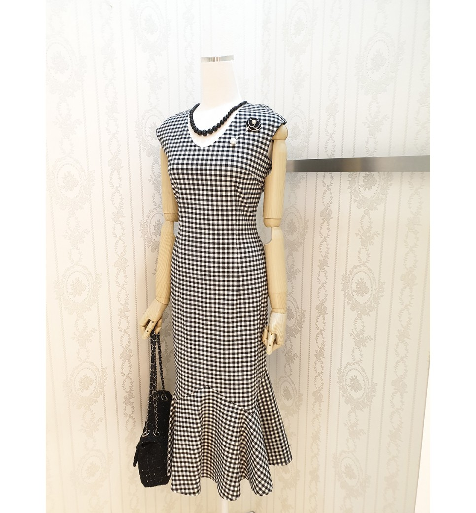 Checker Mermaid Dress