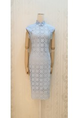 Copper Coin Blue Qipao Dress